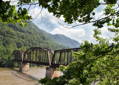 Railroad bridge over New River, Prince, West Virginia