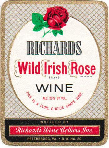 Richard's Wild Irish Rose Wine Red Label
