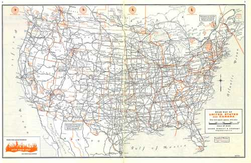 pages from 1959 Rand McNally US Road Atlas