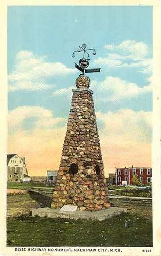 Dixie Highway Monument postcard