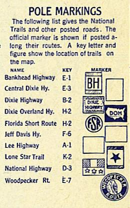 auto trail pole markers (from 1920s Clason's Touring Atlas)
