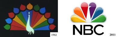 NBC Television trademarks, 1962 and 2011