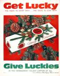 Lucky Strike Christmas ad from 1962