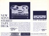 1962 Sony Tape Deck Ad