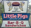 3 Pigs Barbecue sign, Asheville, North Carolina