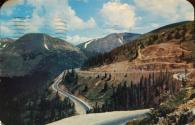 US-6 through Loveland Pass, Colorado postcard