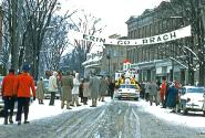 Alfred, New York early 1960s St. Patrick's Day Parade Start