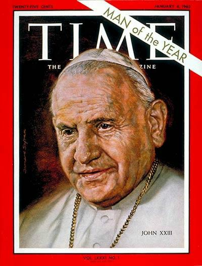 Pope John XXIII on Time Magazine, 1962