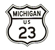 US-23 highway sign from 1961
