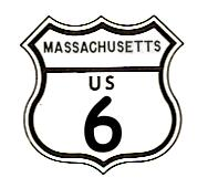 US-6 highway sign from 1961