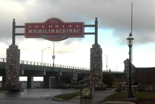 Fort Michilimackinac entrance, Mackinaw City, Michigan