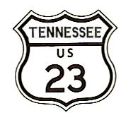 US-23 Tennessee shield, circa 1961