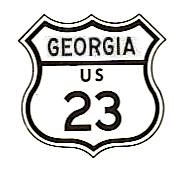 US-23 sign of 1961