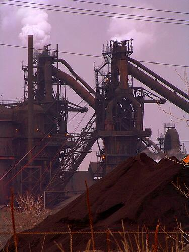 blast furnaces at Lorain, Ohio steel mill