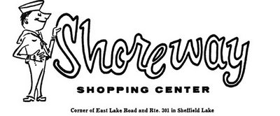 Shoreway Shopping Center, Sheffield Lake, Ohio, logo circa 1960