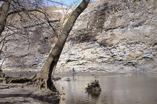 cliffs along Vermilion River, Vermilion, Ohio