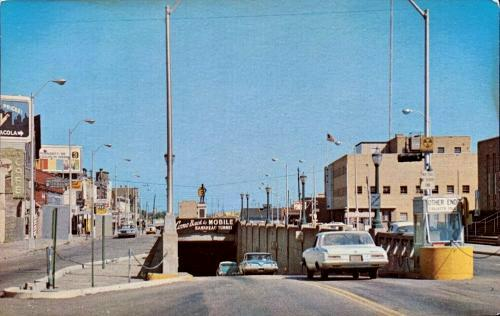 West entrance of Bankhead Tunnel Mobile, Alabama postcard