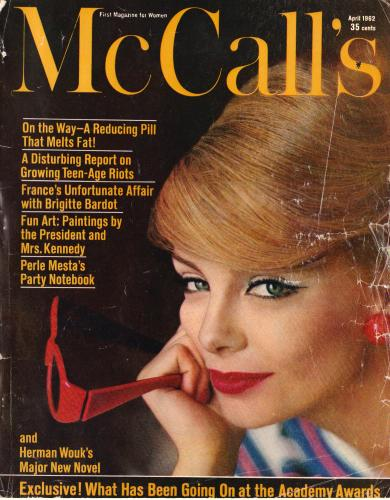 McCall's magazine, April 1962 issue cover