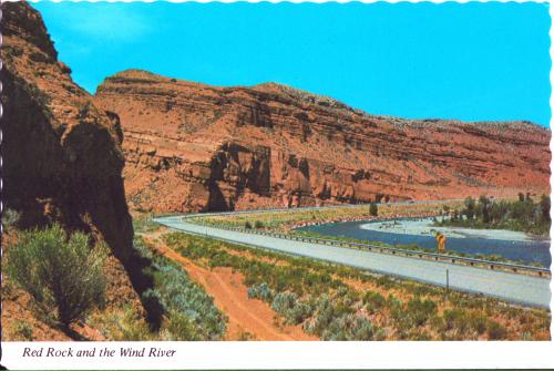 Red Rock, Wind River, US-26, Wyoming postcard