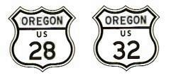 US-28 and US-32 signs, ca. 1962