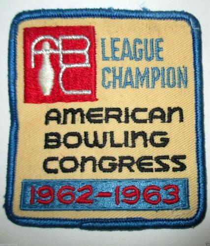 American Bowling Congress League Champion 1962-1963 patch
