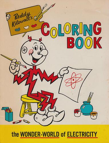 Reddy Kilowatt coloring book