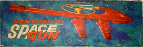 Century 21 Space Gun box top