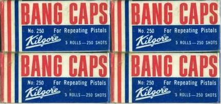 boxes of Kilgore roll caps