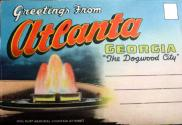 Atlanta Greetings Postcard