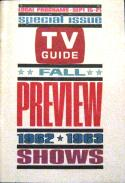 cover of TV Guide, fall 1962