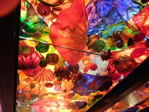 Ceiling exhibit at Chihuly Garden and Glass, Seattle, Washington