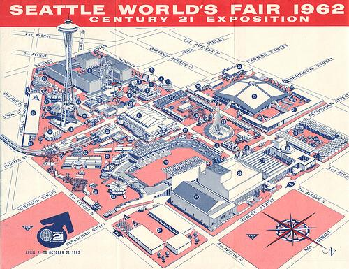 Official map of the Seattle World's Fair Century 21 Exposition